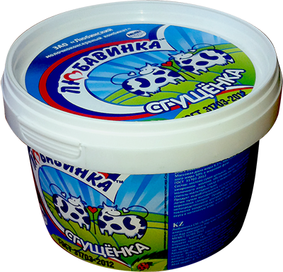 Milk-Containing Condensed Products, with Sugar and Milk Fat Substitute Sgushchyonka (Bucket