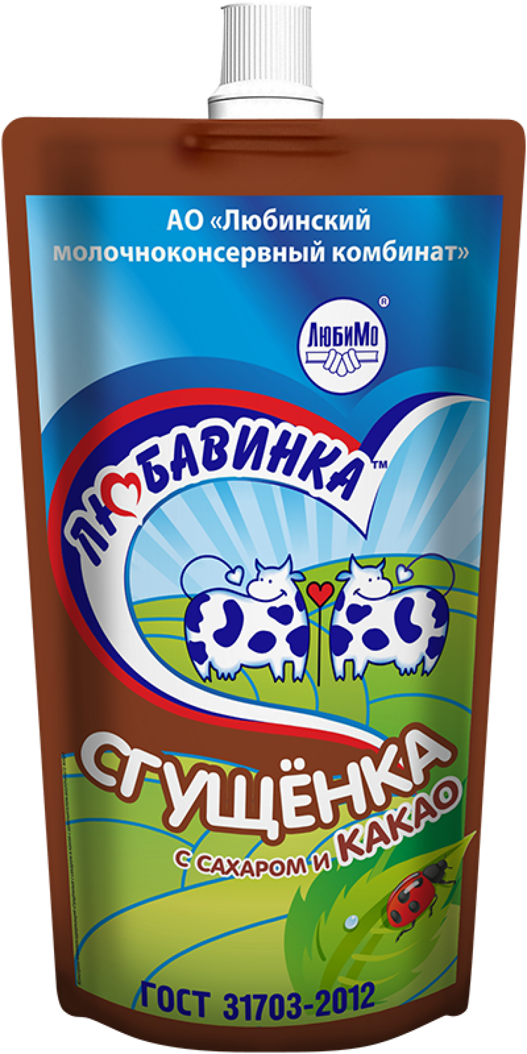 Milk-Containing Condensed Products, with Sugar, Cocoa and Milk Fat Substitute Sugar and Cocoa Sgushchyonka (Doy-Pack)