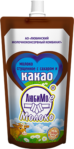 Condensed Milk with Sugar and Cocoa (Doy-Pack)