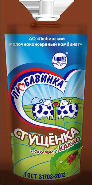 Консервы молокосодержащие сгущенные с сахаром и какао с заменителем молочного жира «Сгущенка с сахаром и какао» (Дой-пак)