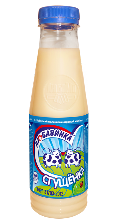 Milk-Containing Condensed Products, with Sugar and Milk Fat Substitute Sgushchyonka (PET-Bottle)